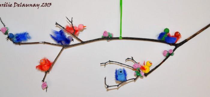 Mobile de Printemps : Oiseaux et Fleurs
