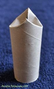 Père Noël en Rouleau de Papier toilette - Etape 3