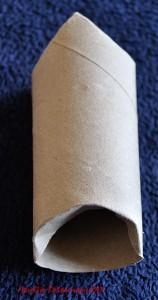 Père Noël en Rouleau de Papier toilette - Etape 4