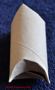 Père Noël en Rouleau de Papier toilette - Etape 5