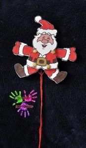 Pantin à ficelle Père Noël après