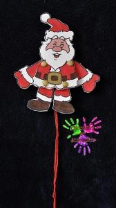 Pantin à ficelle Père Noël avant