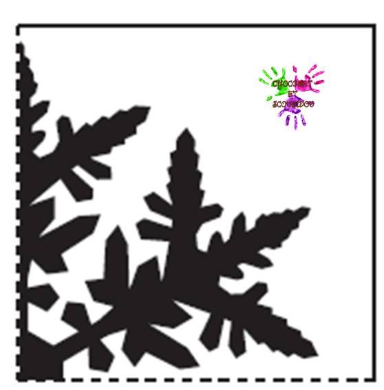 Flocons de neige chocolat et scoubidou - Gabarit flocon de neige a decouper ...