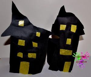 Maisons hantées - lanternes d'Halloween