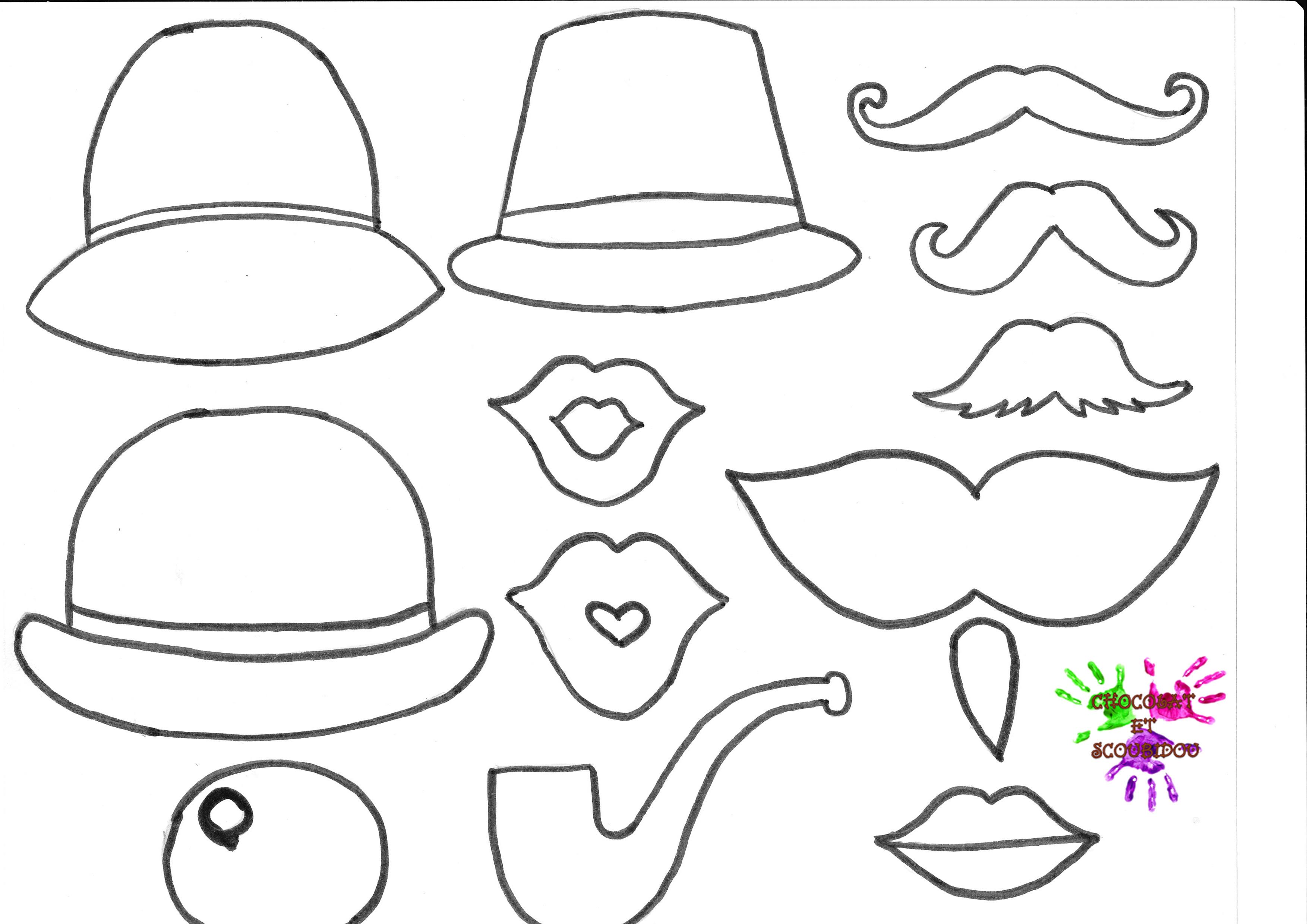 Belle coloriage chapeau bonhomme de neige - Dessin de moustache ...