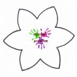 Fleur en mousse - patron