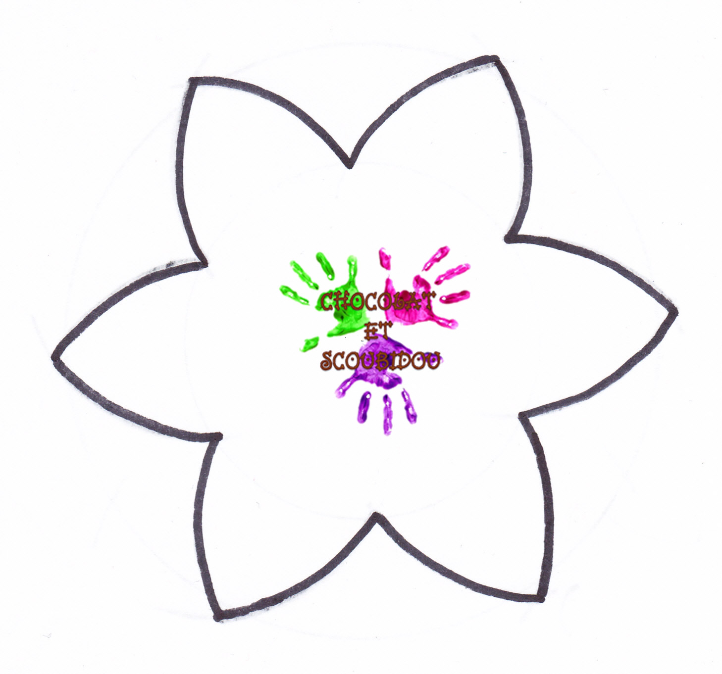 Fleurs en mousse chocolat et scoubidou - Fleur a colorier et a decouper ...