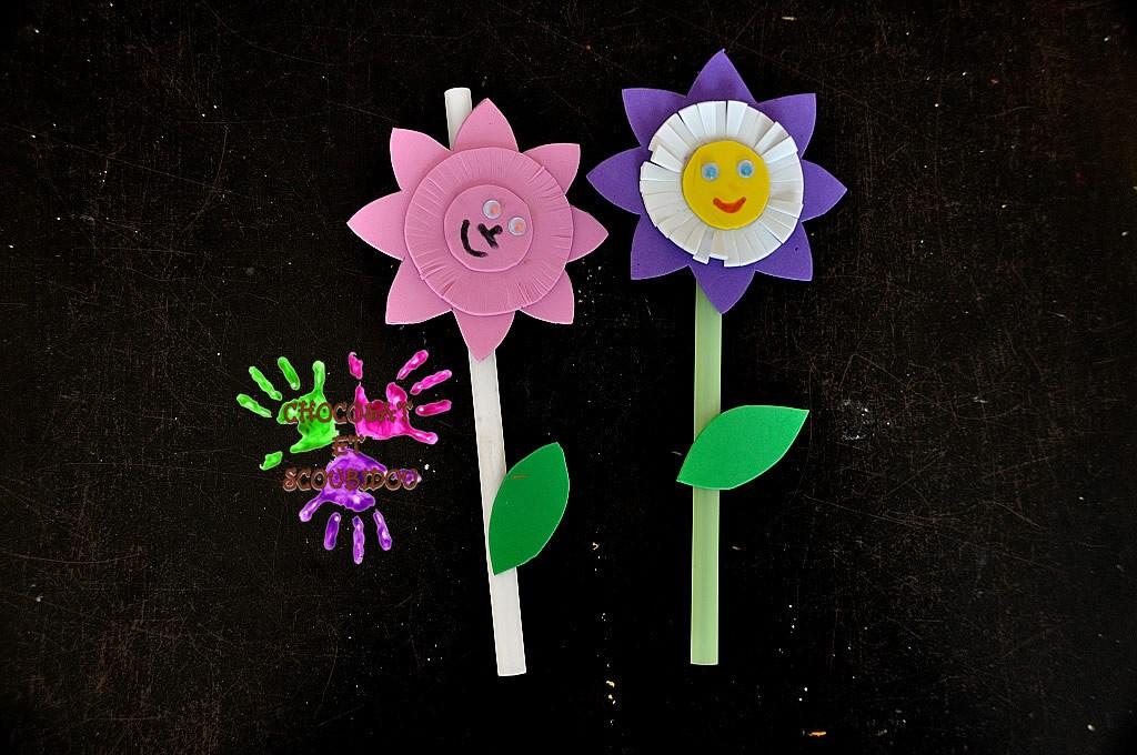 Fleurs en mousse