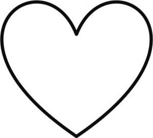 Cadres en bâtonnets - patron coeur