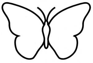 Cadres en bâtonnets - patron papillon