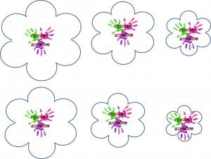 Fleur en mousse à plis - patrons