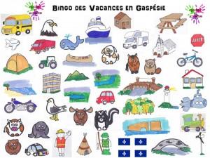 Bingo des vacances en Gaspésie - images