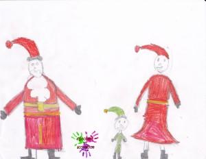 Père Noël Mère Noël et Lutin