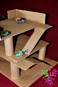 Garage en carton - petites rampes