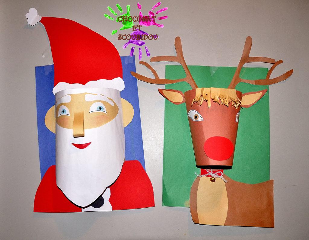Visage 3D - Père Noël et Renne