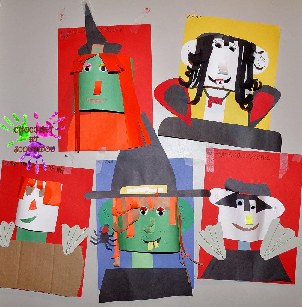 Portrait de famille - sorcières et vampires