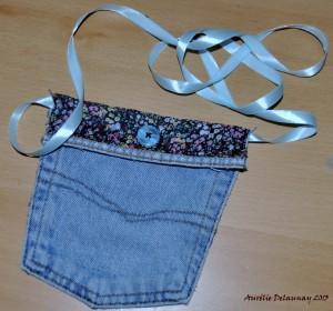 Pochette à bandoulière en jean