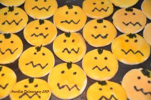 Biscuits sablés d'Halloween - Citrouille
