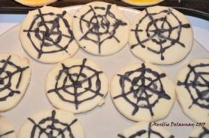 Biscuits sablés d'Halloween - Toile d'araignée