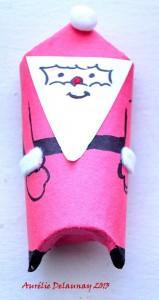 Père Noël en Rouleau de Papier toilette