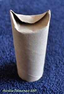 Père Noël en Rouleau de Papier toilette - Etape 2