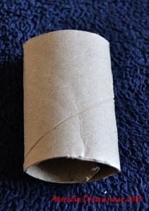 Renne en rouleau de papier toilette - Etape 1
