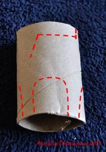 Renne en rouleau de papier toilette - Etape 2
