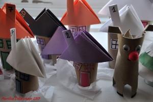 Village de Noël - Maisons et Renne