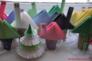 Village de Noël - Maisons et Sapin