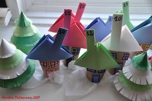 Village de Noël - Maisons et Sapins