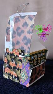 Carte de voeux cubique - Grande Louloute - fermée de dos