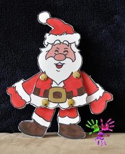 Pantin Père Noël en couleurs