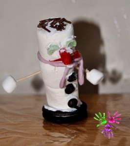 Bonhomme de neige à la guimauve