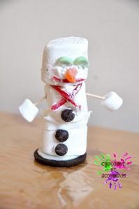 Bonhomme de neige gourmand à la guimauve