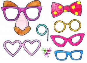Jeu de deguisement - lunettes - en couleurs