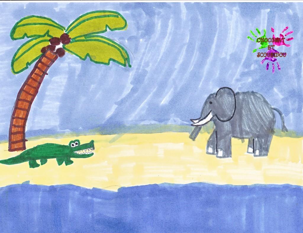 Les crocodiles sur les bords du Nil