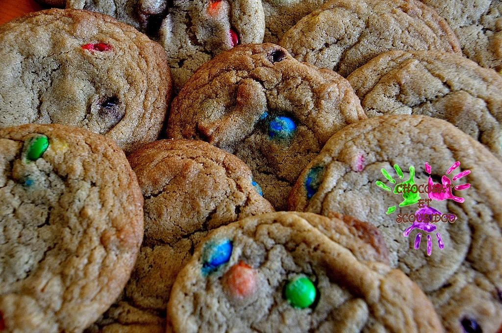 Cookies moelleux aux pepites de chocolat enrobé