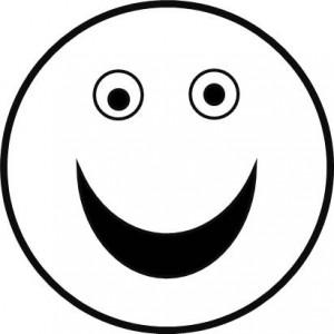 Cadres en bâtonnets - patron bonhomme sourire