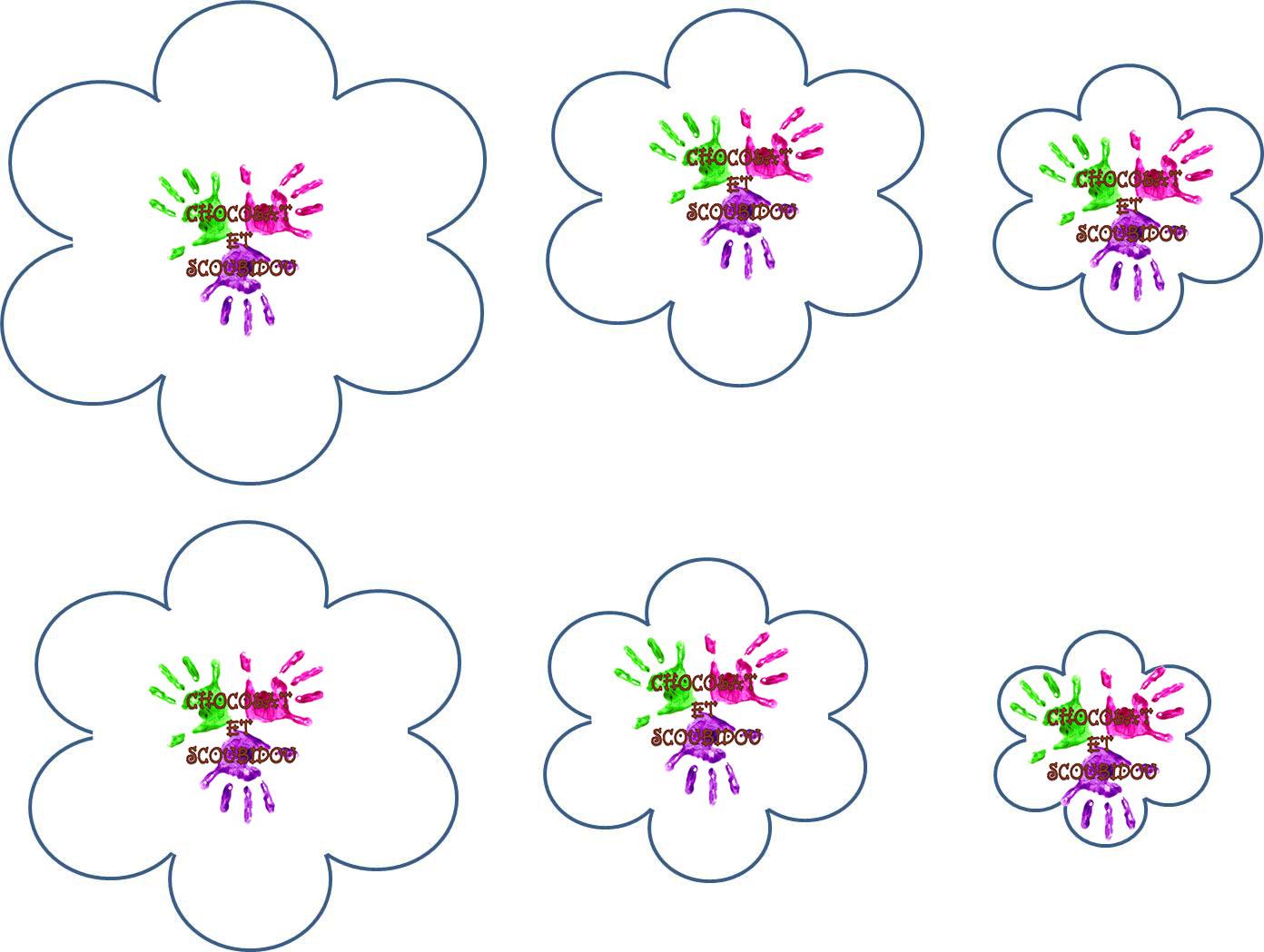 Fleur En Mousse A Plis Chocolat Et Scoubidou