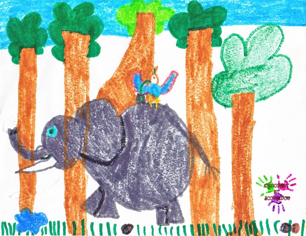 Un éléphant qui se baladait