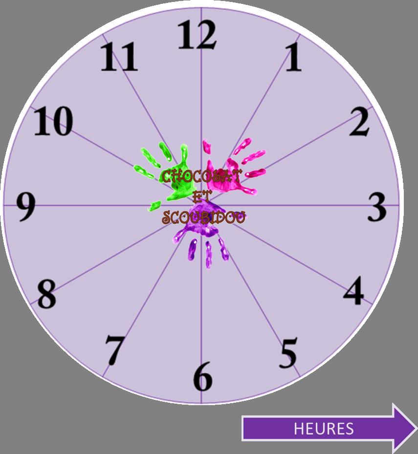 Horloge en carton - heures