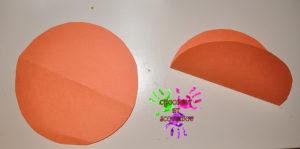 Citrouille en papier - étape 1