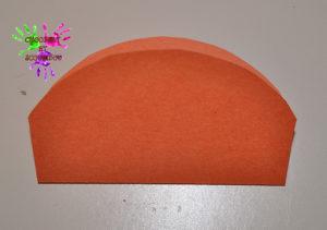 Citrouille en papier - étape 2